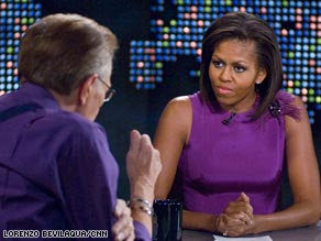Michelle Obama talks about Williams Ayers, Hillary Clinton and her husband's campaign on Larry King Live.