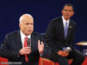 John McCain first mentioned his mortgage relief plan during Tuesday's town-hall debate with Barack Obama.