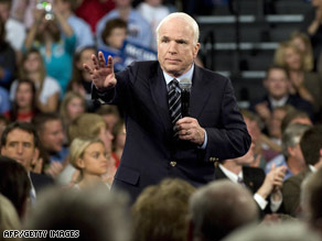 Sen. John McCain is expected to deliver a speech on the state of the election and the economy, an aide says.