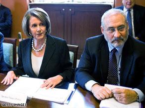 House Speaker Nancy Pelosi met with Nobel prize winner Joseph Stiglitz and other economic experts Monday.