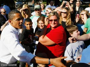 Barack Obama campaigns in Holland, Ohio, Sunday afternoon.