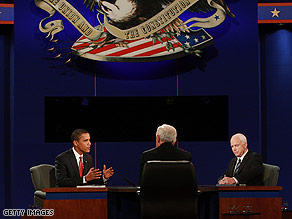 Sens. Barack Obama and John McCain debate face to face Wednesday night.