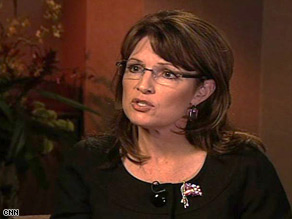 Alaska Gov. Sarah Palin speaks with CNN's Drew Griffin Tuesday.