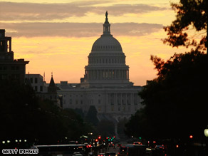 Capitol at dawn: A poll finds the majority of voters think most of those inside don't deserve re-election.