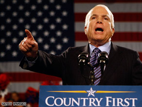 Sen. John McCain has multiple events scheduled in Florida on Thursday.
