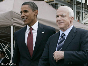 Both Sens. John McCain and Barack Obama are campaigning hard in states that President Bush won in 2004.