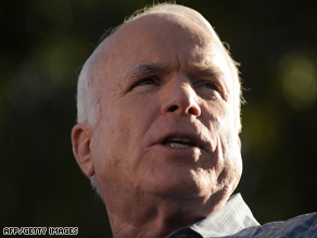 "Sen. John McCain says his campaign is ""very competitive"" in key states."