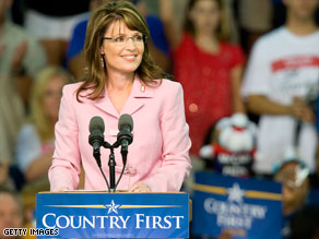 Alaska Gov. Sarah Palin deviated from her prepared remarks to talk about her wardrobe controversy Sunday.
