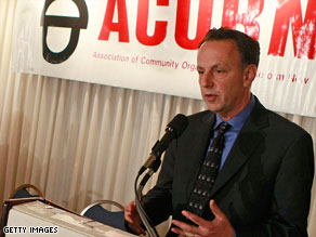 ACORN Executive Director Steve Kest announces the group&#039;s lawsuits and television spot Wednesday.