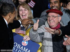 Obama greets supporters in Virginia Beach.
