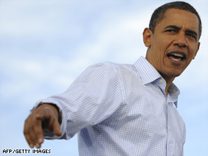 Sen. Barack Obama tells his supporters they can&#039;t &#039;let up in these next few days.&#039;.