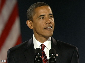 Barack Obama, addressing supporters after his victory, was an unlikely nominee not that long ago.