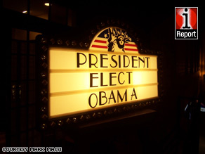 The streets of Washington, D.C. filled with euphoric Obama supporters after the election was called.