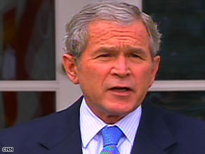 """Americans can be proud of the history that was made yesterday,"" President Bush said Wednesday."