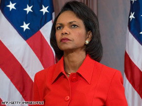 Secretary of State Condoleezza Rice is on a trip to the Middle East.