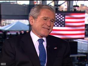 President Bush says he has always been proud of America's volunteer military force.