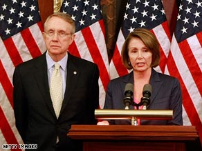 The public's opinon of Senate Majority Leader Harry Reid and House Speaker Nancy Pelosi has improved.