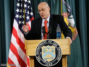 Treasury Secretary Henry Paulson updates the press on the status of the financial bailout program.