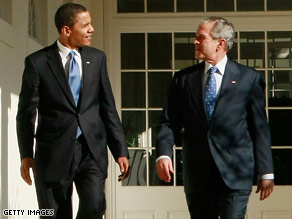 U.S. President-elect Barack Obama, with President Bush, has not commited to a missile defense shield in Europe.