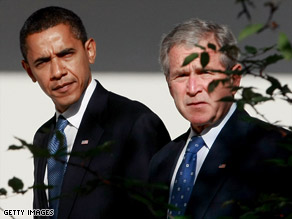 Obama met with Bush at the White House last month.