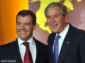 Russian President Dmitry Medvedev visited Washington for the economic summit hosted by President Bush.
