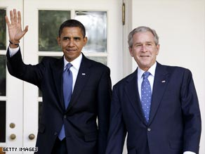 Neither Barack Obama nor President Bush has been visible in efforts to save the sinking economy.