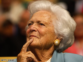Former first lady Barbara Bush is recovering in intensive care after her surgergy.
