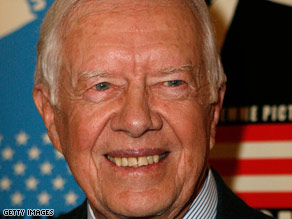 Jimmy Carter says closing Guantanamo Bay and ending torture would send a strong message.