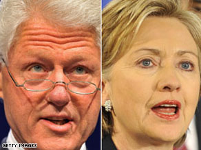 """Bill Clinton says he'll try to be a """"sounding board"""" for his wife as she assumes the role of secretary of state."""