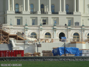 Inauguration preparations at the Capitol began before the Thanksgiving holiday.