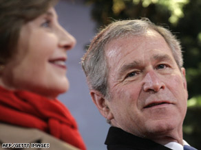 In his post-presidency, George Bush has plans to construct a presidential library and work on his memoirs.