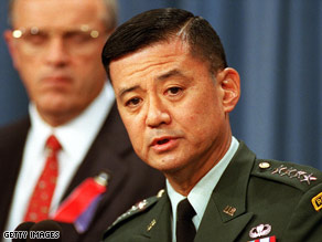 Gen. Eric Shinseki retired as Army chief of staff in June 2003.