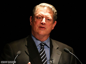 Al Gore delivers a speech at Waseda University November 19, 2008, in Tokyo, Japan.