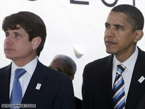 Illinois Gov. Rod Blagojevich, left, and Barack Obama attend a 2007 rally for Chicago's 2016 Olympics bid.