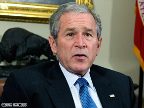 President Bush speaks about his administration's efforts in fighting drug abuse at the White House on Thursday.