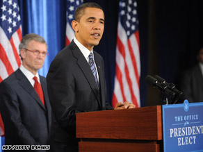 President-elect Barack Obama says health care must be addressed in order to fix the economy.