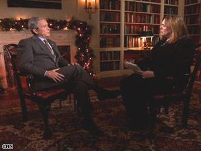 President Bush says he thinks his brother, Jeb, should run for Florida' Senate seat.