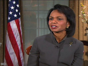 Condoleezza Rice said that in hindsight she would have focused more on working with local governments in Iraq.