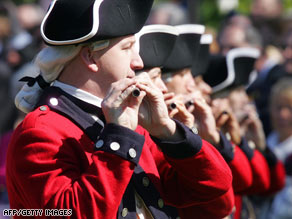 The Fife and Drum Corps drums are load enough to set off car alarms.