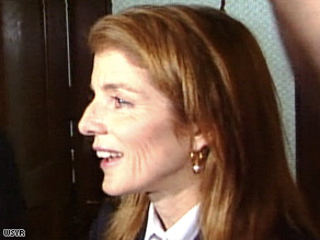 Caroline Kennedy vists Syracuse, New York, on Wednesday.