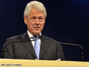 Bill Clinton speaks to at the Clinton Global Initiative conference in Hong Kong in early December.