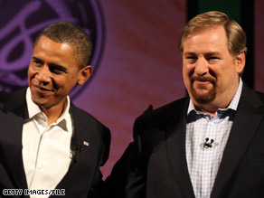 President-elect Barack Obama has chosen pastor Rick Warren to deliver the invocation at his inauguration.