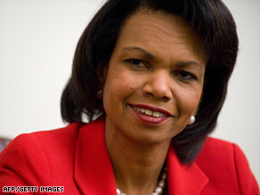 "Secretary of State Condoleezza Rice says ""there is no greater honor than to serve this country,"""