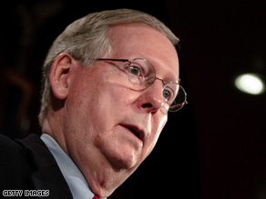 Senate Minority Leader Mitch McConnell wants Congress to holds hearings on the stimulus package.