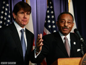 Gov. Rod Blagojevich announced Roland Burris as his pick for Illinois' open Senate seat on Tuesday.