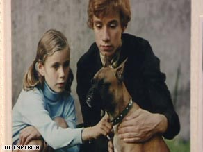Roland Emmerich and his younger sister Ute as children in Germany. They now work together in Hollywood.