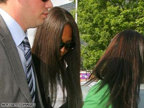 Naomi Campbell arrives at court
