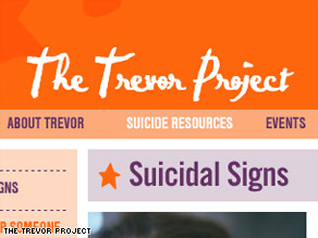 The Trevor Project online provides resources for educators and a list of suicide warning signs.
