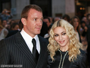 "Madonna and Ritchie in London for the premiere of Ritchie's film ""Rocknrolla"" on September 1."