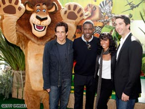 "Ben Stiller, Chris Rock, Jada Pinkett Smith and David Schwimmer return for ""Madagascar: Escape 2 Africa."""